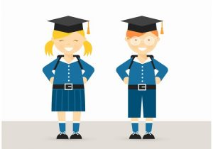free-school-children-in-uniform-vector